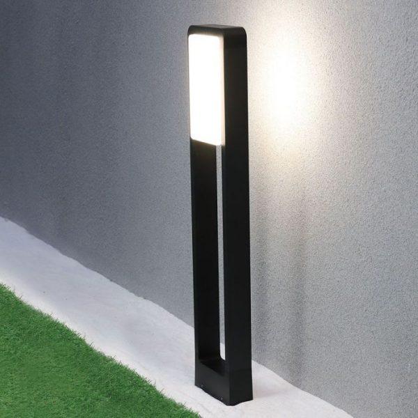 10W Led Bollard Lamp IP65 Samsung Chip White & Black Finish