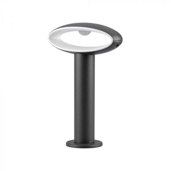9W Led Bollard Lamp with Lampshade IP54 Dark Grey