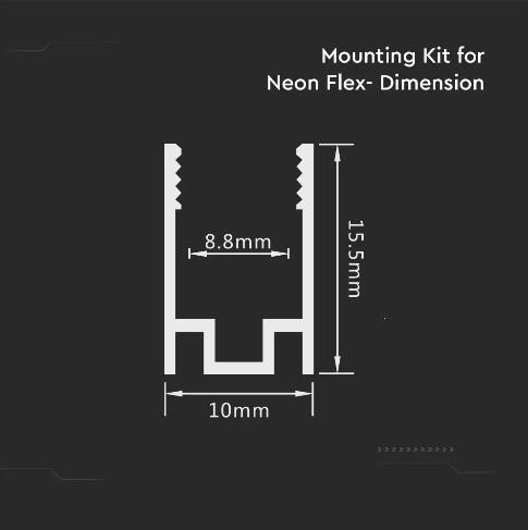 Holder for Neon Flex 50x10mm