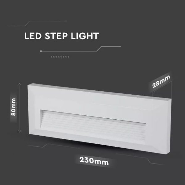 3W Led Rectangular Step Light IP65