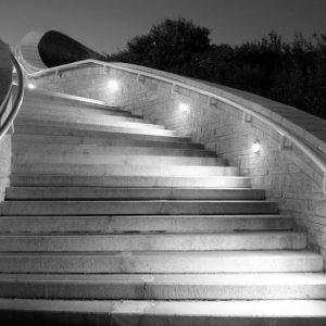 3W Led Step Light Round IP65 90˚ Beam Angle