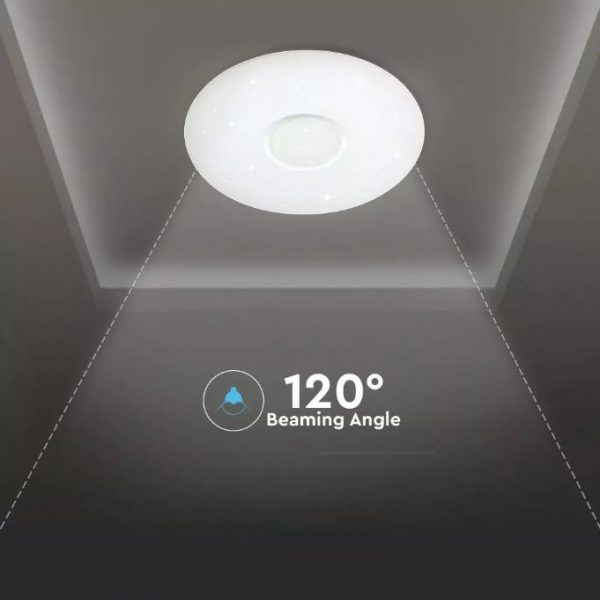 LED Designer Domelight 494mm 30W/60W/30W, CCT 3in1 Dimmable with Remote Control IP20 Starry Cover