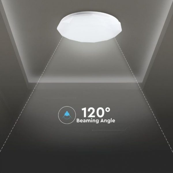 LED Designer Domelight Diamond Cover 30W/60W/30W, CCT 3in1 Dimmable with Remote Control IP20