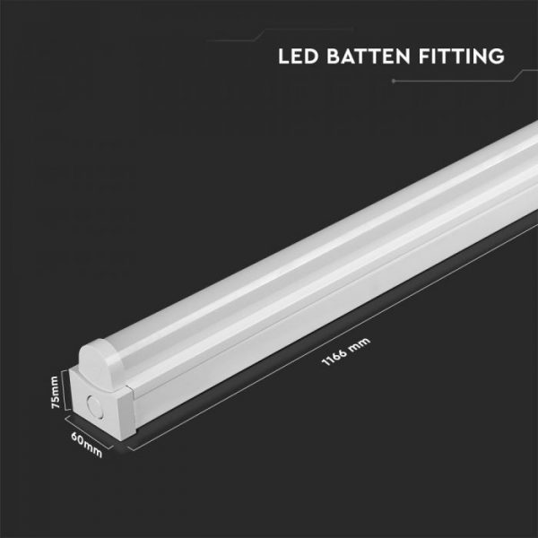 24W LED Batten Fitting 4Ft 120cm with Samsung Chip 5 Years Warranty