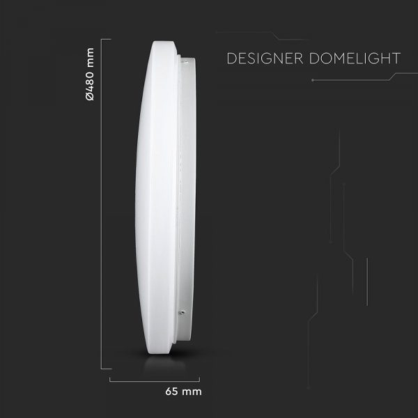 36W LED Dome Light 48cm Milky Cover CCT 3in1 Round
