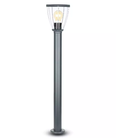 LED Bollard Lamp with Clear Cover E27 Holder