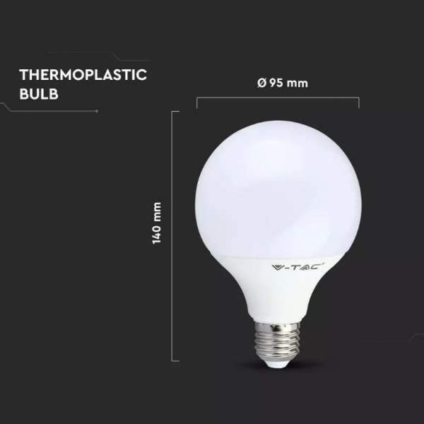 LED Bulb 10W G95 E27 Globe Day White