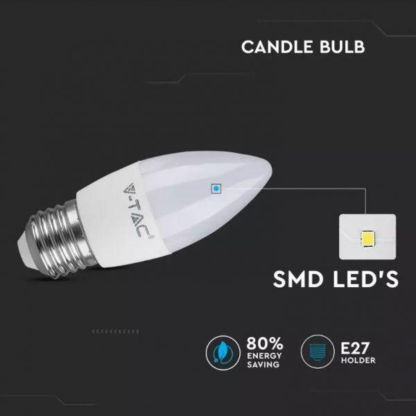 5.5W Led Candle Bulb E27