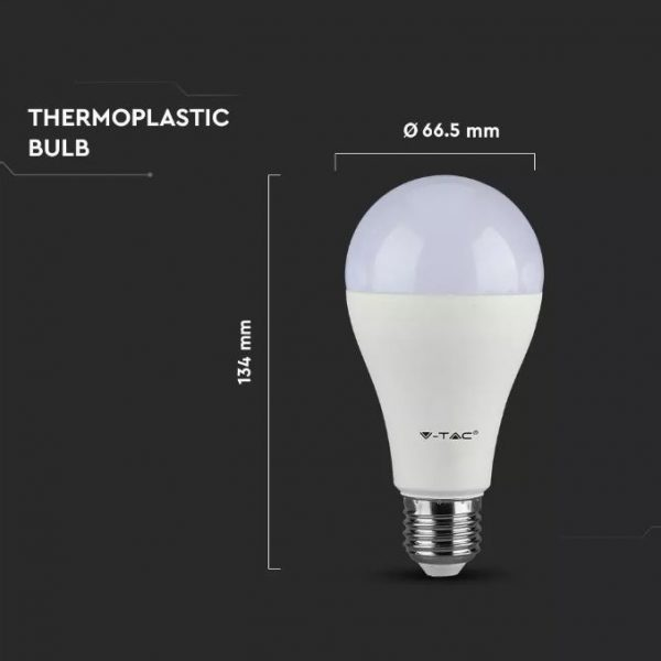 15W Thermal Plastic Bulb A65 E27
