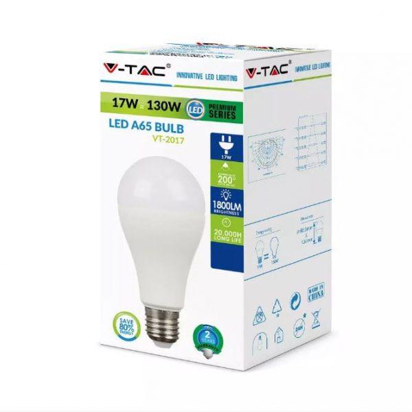 17W Thermal Plastic Bulb A65 E27