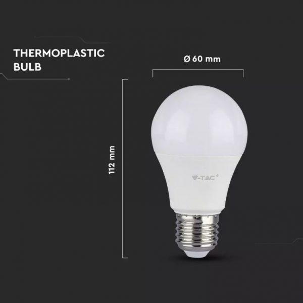9W Thermal Plastic Bulb A60 E27