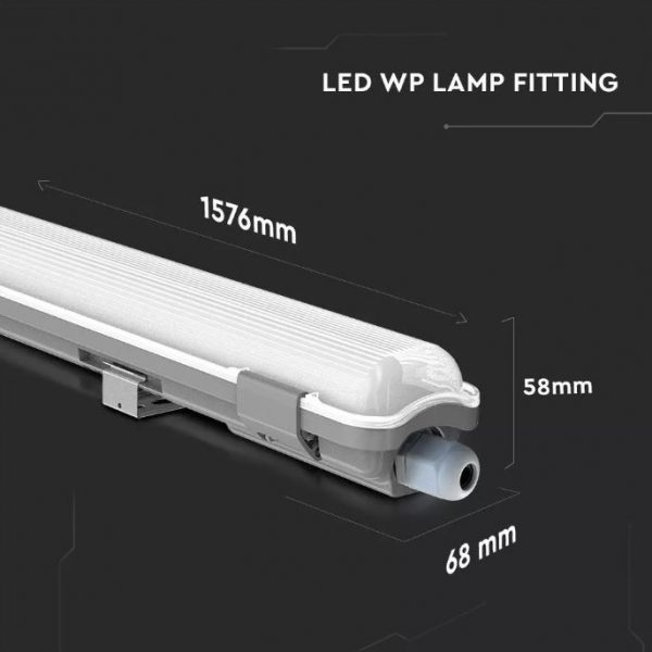 22W Waterproof Fitting with 1 LED Tube IP65 (150cm)