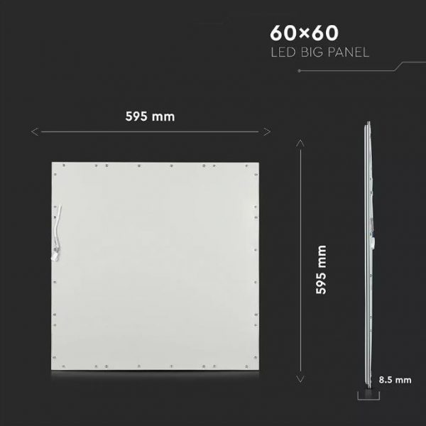 36W LED Panel with LIFUD Driver 600x600mm