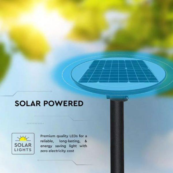10W LED Solar Garden Light Round with Sensor and RF Control