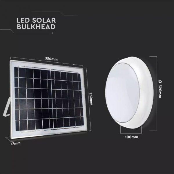 15W Led Solar Ceiling Light RF Control CCT 3in1
