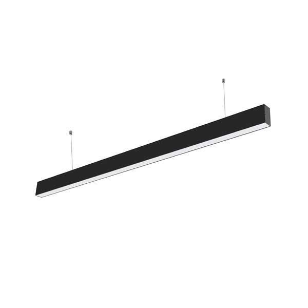 40W LED Linear Suspended Light Slim Black