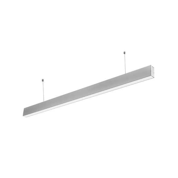 40W LED Linear Suspended Light Slim Silver