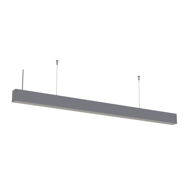 40W LED Linear Suspended Light Linkable 5 Years Warranty Silver